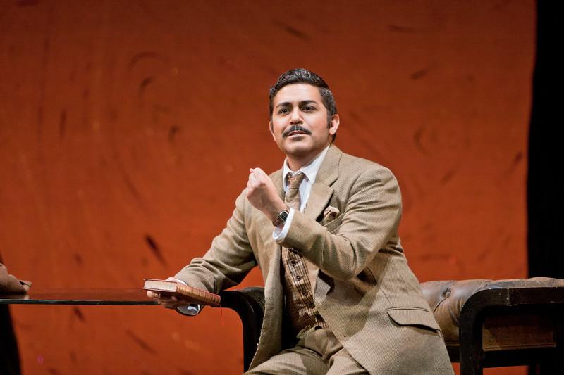 Tenor Jesús Garcia is Alfredo Germont in San Diego Opera's LA TRAVIATA. April, 2017. Photo by J. Katarzyna Woronowicz Johnson.