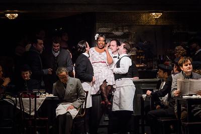 ENO La bohème Nadine Benjamin and cast (c) Robert Workman