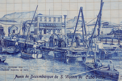 Mosaico en Mercado de Plaza de la Estrella. Mindelo, Sao Vicente (Cabo Verde)