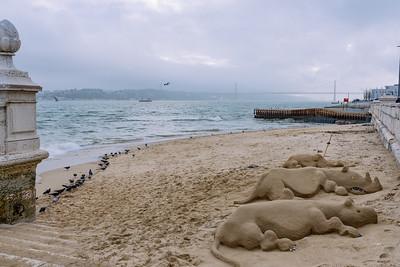 Rinocerontes de arena a la orilla del Tajo