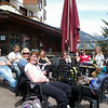 Waiting for the bus outside the now closed Ski Lodge :-(