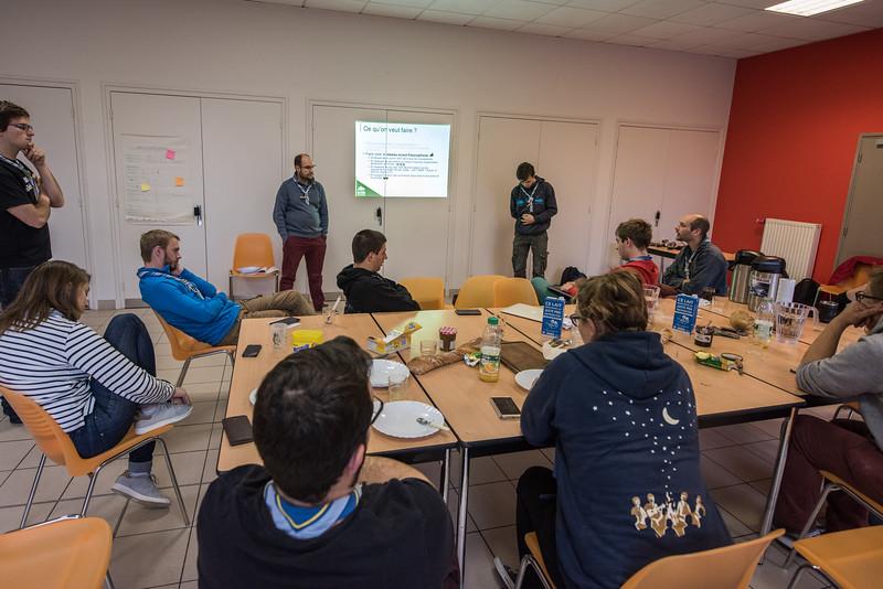 Validation des projets 2017-2018 : ScoutCom le 10 et 11 Février 2018