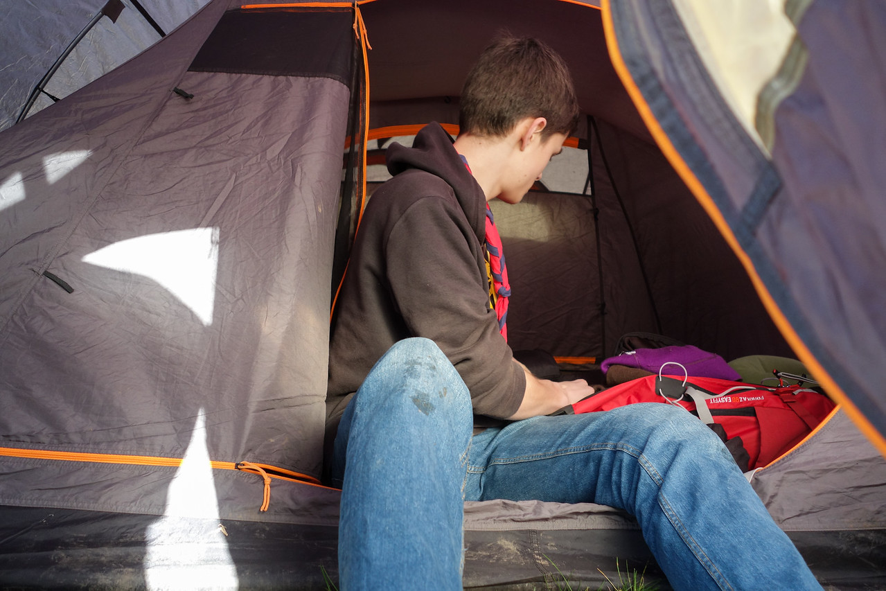 Installation dans les tentes
