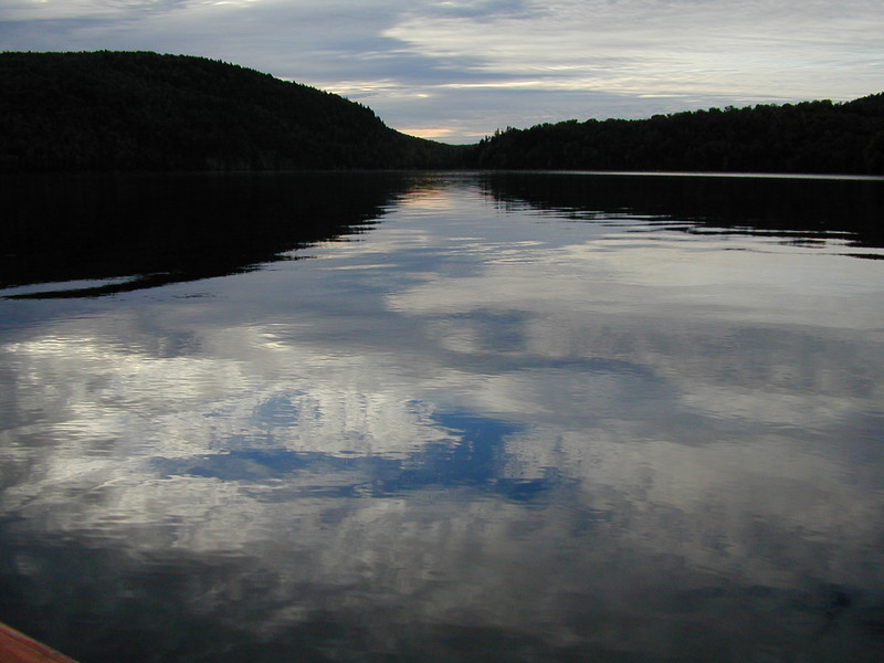 Sunrise on a lake near Wabenaki<br /> 2000