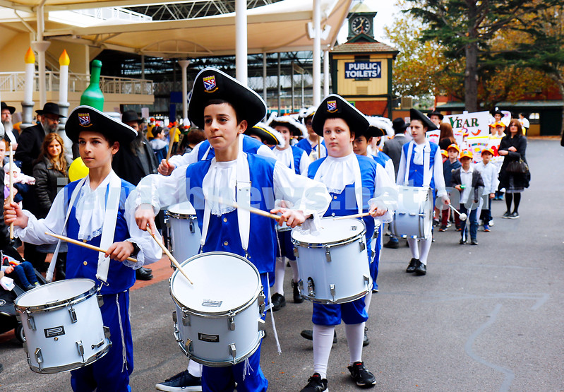 14-5-17. Lag B'Omer parade at Caulfield Racecourse. Photo: Peter Haskin