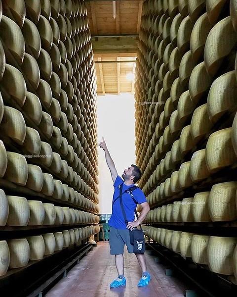 • Emilia Romagna • Io vorrei quella forma la... . . . #BorgoFood #FidenzaalCentro Splendida visita all'Azienda Agricola @ciaolattefarm con la signora Afra che con passione ci ha spiegato il processo di produzione del @parmigianoreggiano. . . .  by @unapen