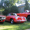 John's Porsche 356, Randy's GTO at left