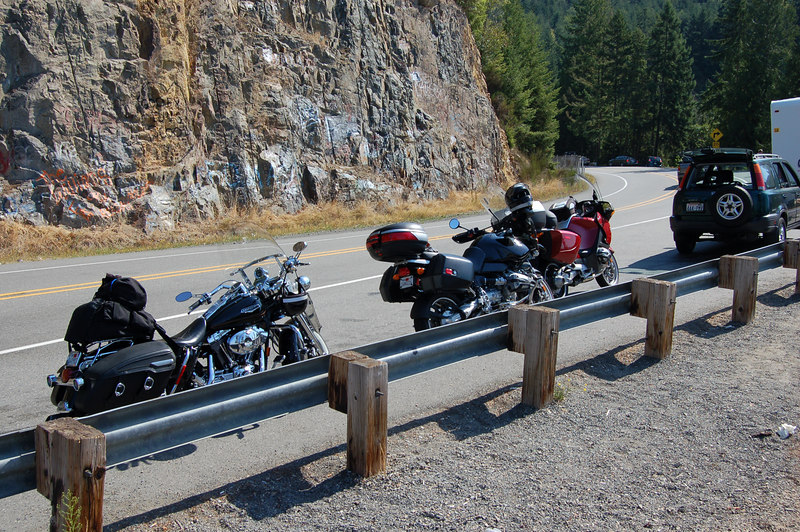 Started out the ride from tacoma, down to the twisty road on the way to rainier.  This road is every bit as good as remembered.  The two other motorcyclists followed me the whole way fom Tacoma :)