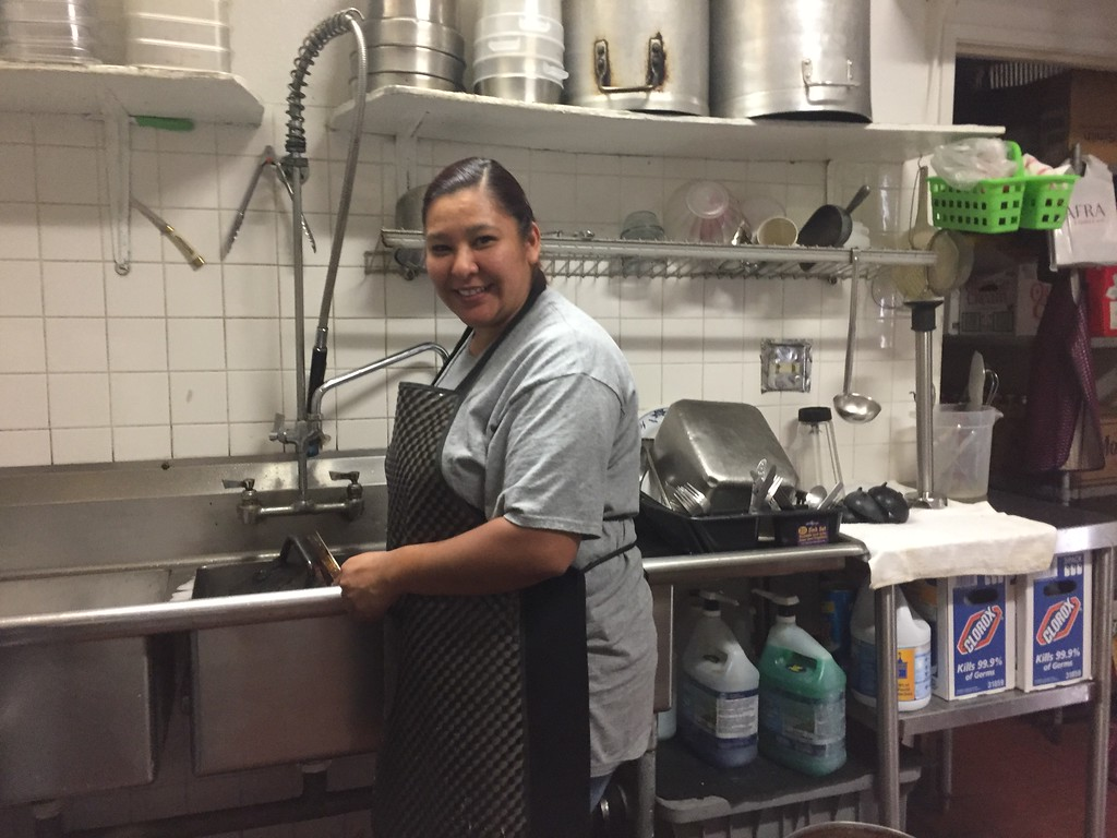 . HILLARY OJEDA/THE WILLITS NEWS �For us it�s like every other day,� Jessica Gonzalez said, a dishwasher at Super Taco.