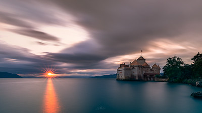 Chillon sunset
