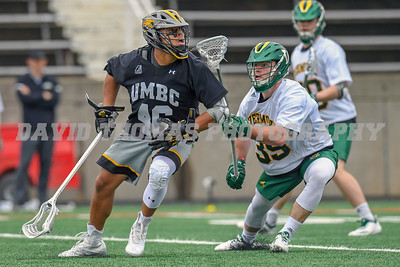 AEC Men's Lacrosse Championship 2019.  UMBC comes from behind down 3 goals in the 4th quarter defeating Vermont 14-13.  UMBC won the face-off to remain possession with 1 minute of play to come away with the Championship.