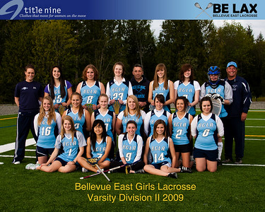 BE LAX 2009 Team Pictures