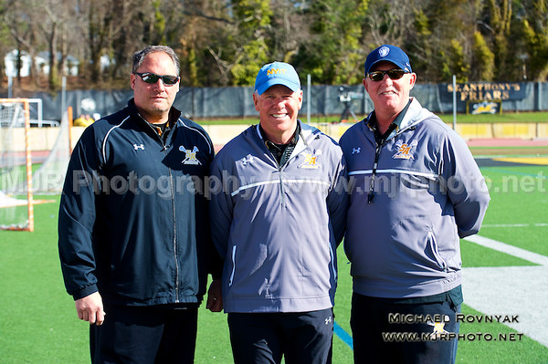 Lacrosse, Boys JV, 2015-04-11 Coaches and team photos St Anthonys