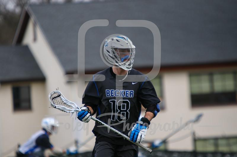 Becker College Hawks midfielder Matthew Genkos (18)