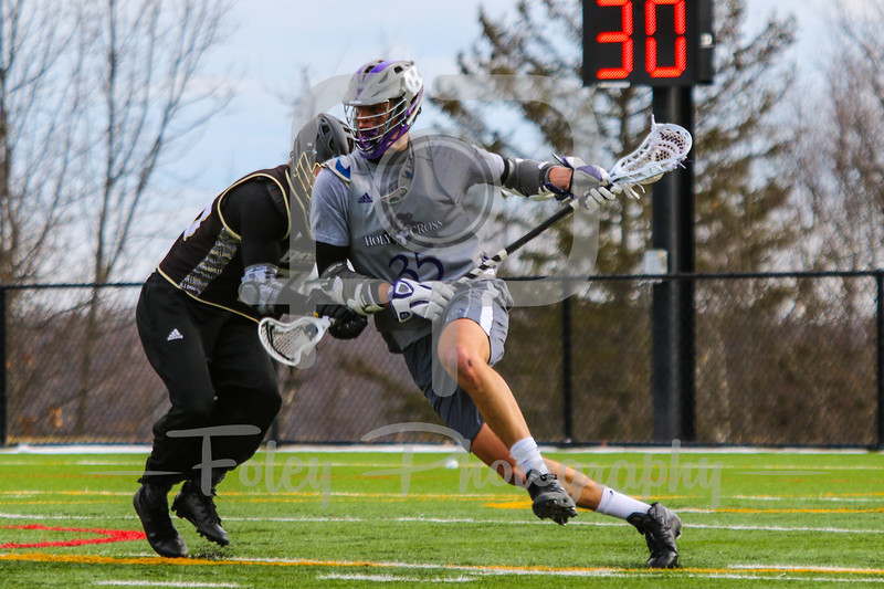 Saturday, January 28, 2017; Worcester, MA;  during a scrimmage between the Bryant University Bulldogs and the Holy Cross Crusaders.