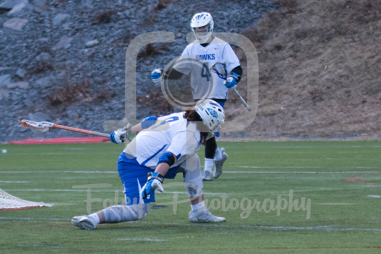 Monday, March 13, 2017; Leicester, MA;  during the Scots 11-5 victory over the Hawks in a non-conference matchup.