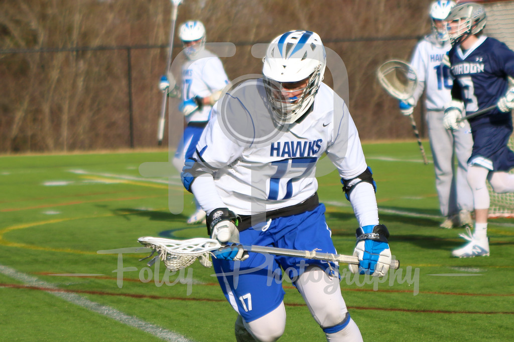 Becker College Hawks defender Denis Isufaj (17)