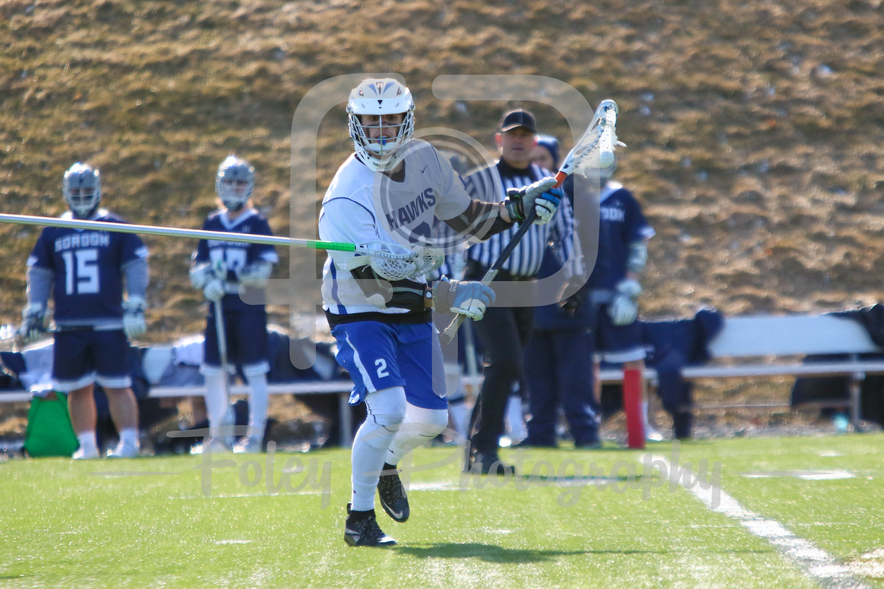 Becker College Hawks midfielder Blake Gordon (2)
