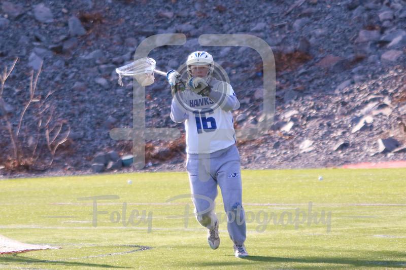 Becker College Hawks goalie Michael Krch (16)