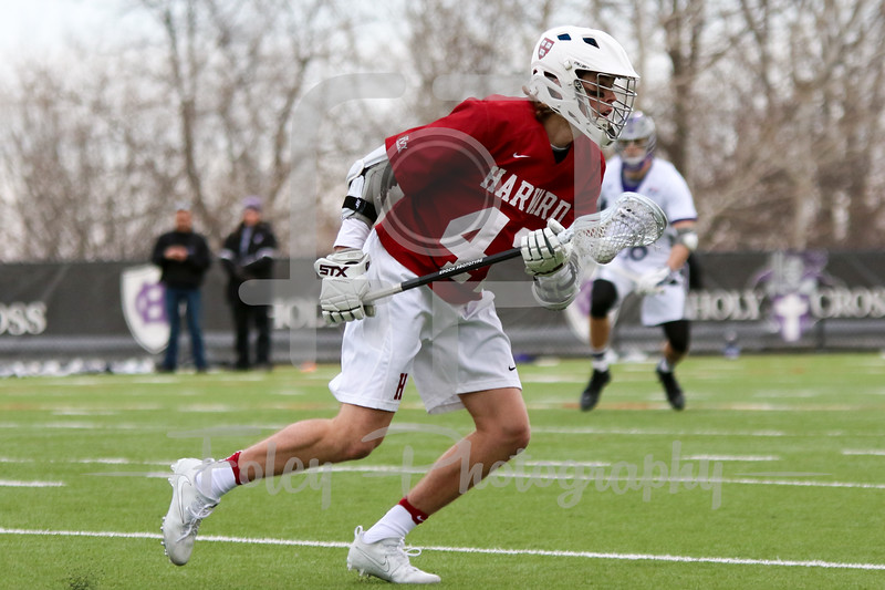 Harvard Crimson midfielder George Loring (42)