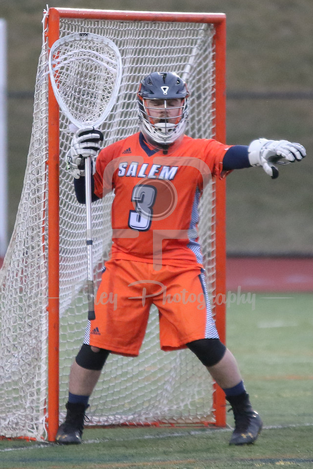 Salem State Vikings goalie Kevin Lally (3)