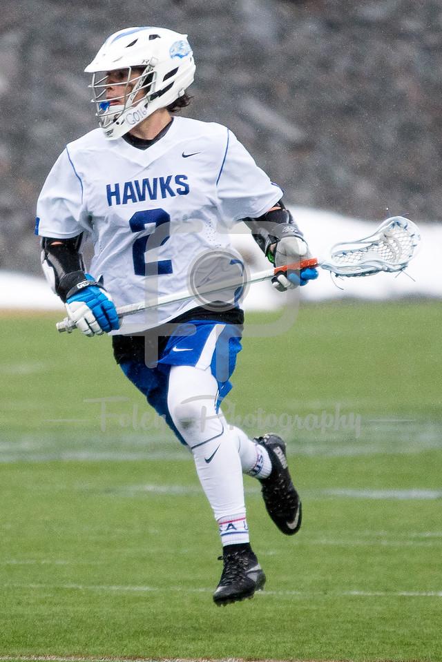 Becker College Hawks midfielder Blake Gordon (2)
