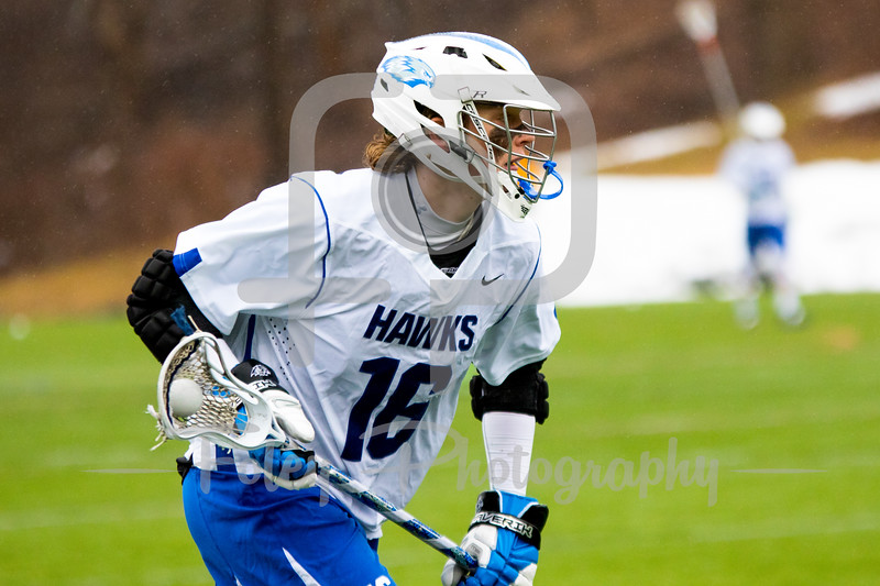 Becker College Hawks midfielder Michael Krch (16)