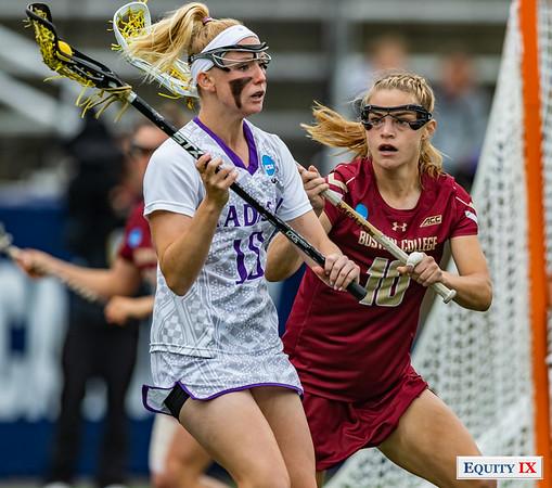 JMU (16) vs Boston College (15) - 2018 NCAA Women's Lacrosse Championship © Equity IX - SportsOgram - Leigh Ernst Friestedt