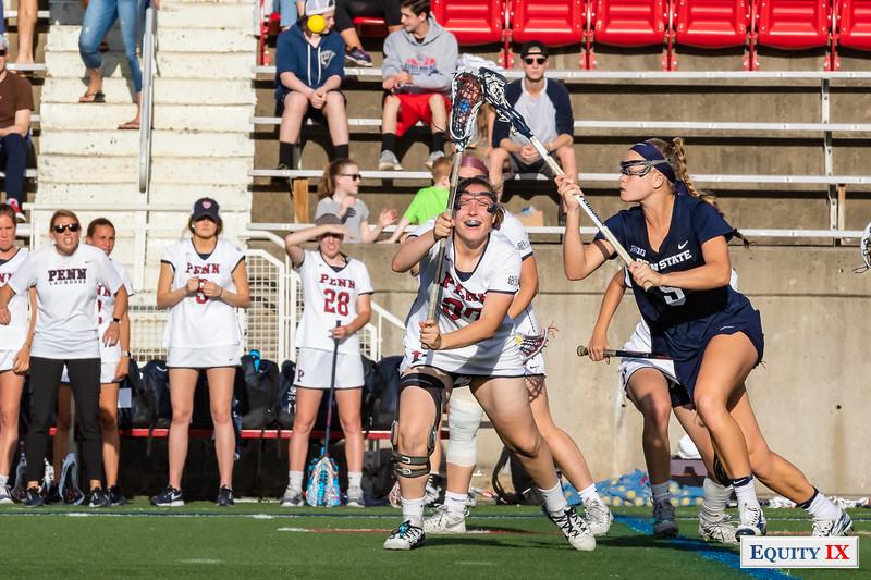 UPenn (15) vs Penn State (14) 2OT - 2018 NCAA Women's Lacrosse Tournament - 1st Round © Equity IX - SportsOgram