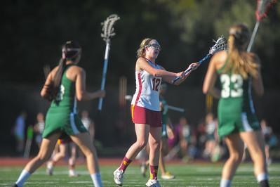 Menlo-Atherton High School Girl's Varsity Lacrosse vs. The Harker School, March 4, 2015