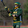 MANSFIELD, MA - MAY 7: MIAA boys lacrosse action between the Mansfield Hornets and the King Philip Warriors at Mansfield High School on May 7, 2014 in Mansfield, Massachusetts. The Warriors won 17-6.