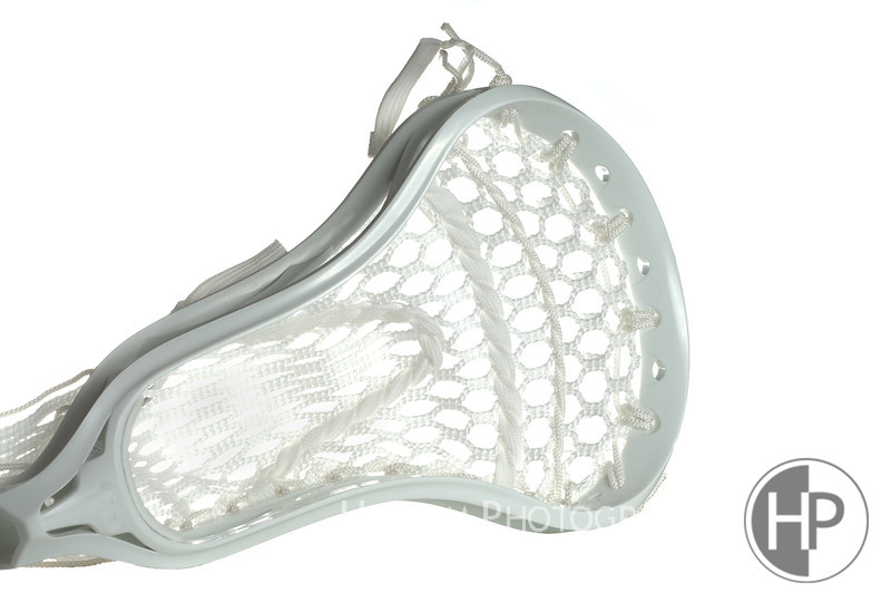 White lacrosse head with white meshing over white