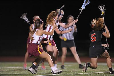 Menlo Atherton High School Varsity Women Lacrosse vs. Castilleja School, 2013-04-12