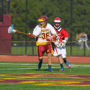 Menlo Atherton High School JV Men Lacrosse vs. Burlingame High, 2013-04-12