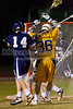 Mt Tabor Spartans vs E Forsyth Eagles Men's Varsity LAX<br /> Tuesday, April 19, 2011 at Mt Tabor High School<br /> Winston-Salem, North Carolina<br /> (file 210507_BV0H9250_1D4)