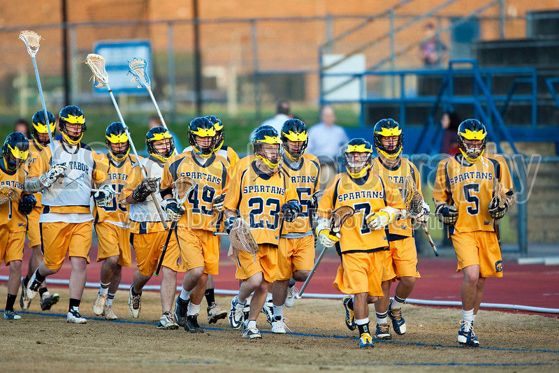 Mt Tabor Spartans vs Western Guilford Fighting Hornets Men's Varsity LAX<br /> Thursday, March 18, 2010 at Mt Tabor High School<br /> Winston-Salem, North Carolina<br /> (file 175737_803Q0319_1D3)
