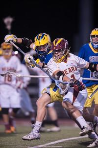 Menlo-Atherton High School Boy's Varsity Lacrosse vs. Junípero Serra High School, March 4, 2015