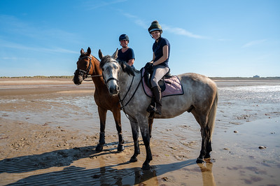 Hilary Ellis, Andrea Jupp and Grace Sewell.  First time at the beach with Lad and        Pictured at Climping Beach West Sussex. 14th June 2021. Photography by Sophie Ward