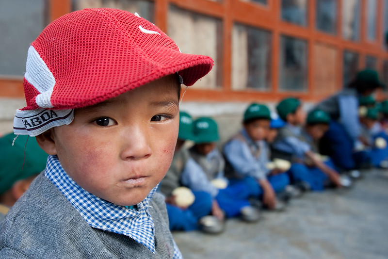 Young boy. Tibetan Childrens Village at Sumdo.