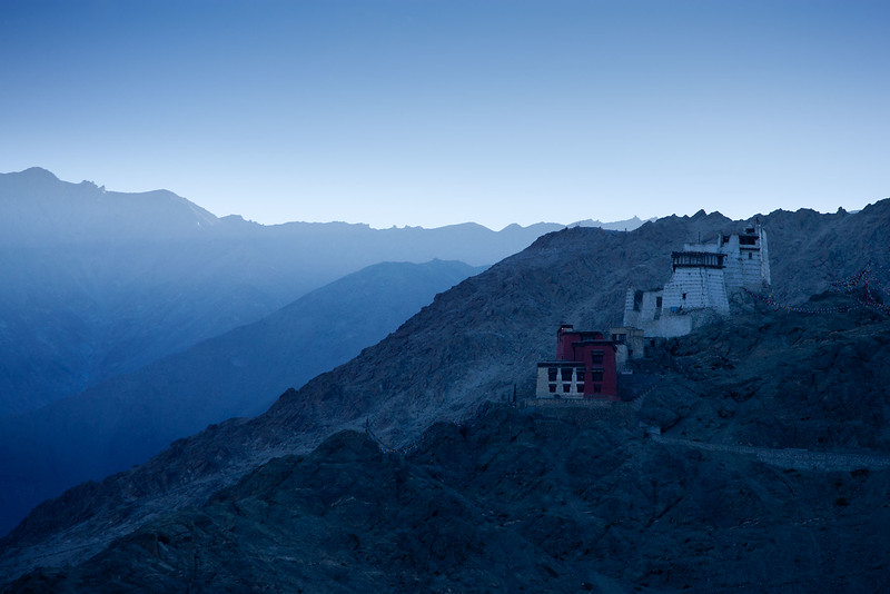 Early morning, Namgyal Tsemo Gompa. Leh.