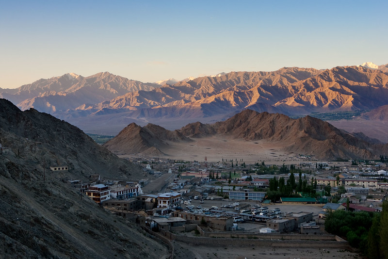 Leh, the largest town in Ladakh.