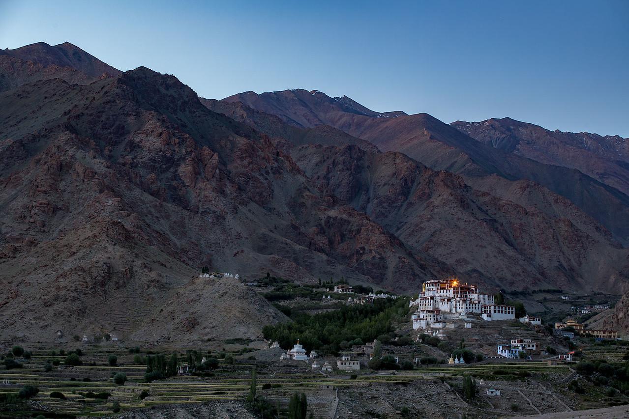 Likir Monastery, late evening