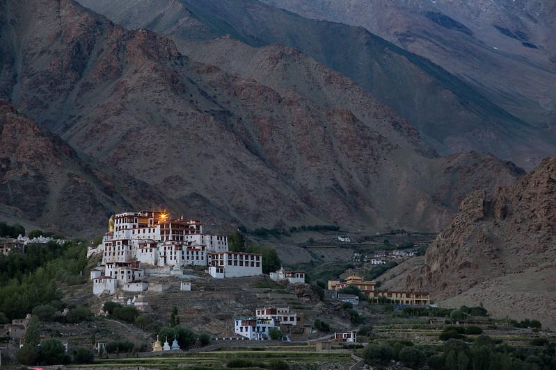 Likir Monastery, late evening.