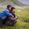 Shepherd lady and daughter. Rangdum. Suru valley.