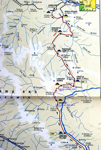 Map of the Across Zanskar Trek