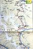 Map of the Across Zanskar Trek