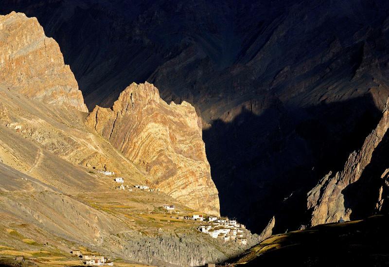 Village of Photoksur in late evening sunlight