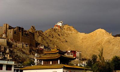 Approaching evening storm over Leh Palace