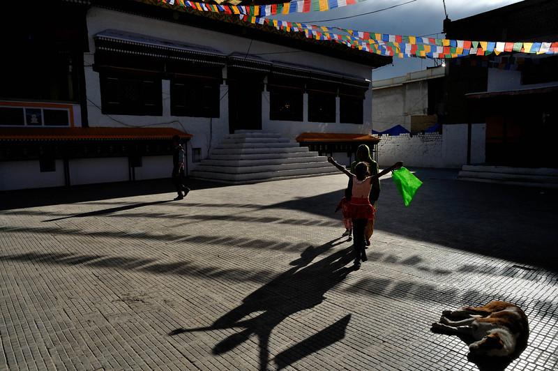 At Leh monastery