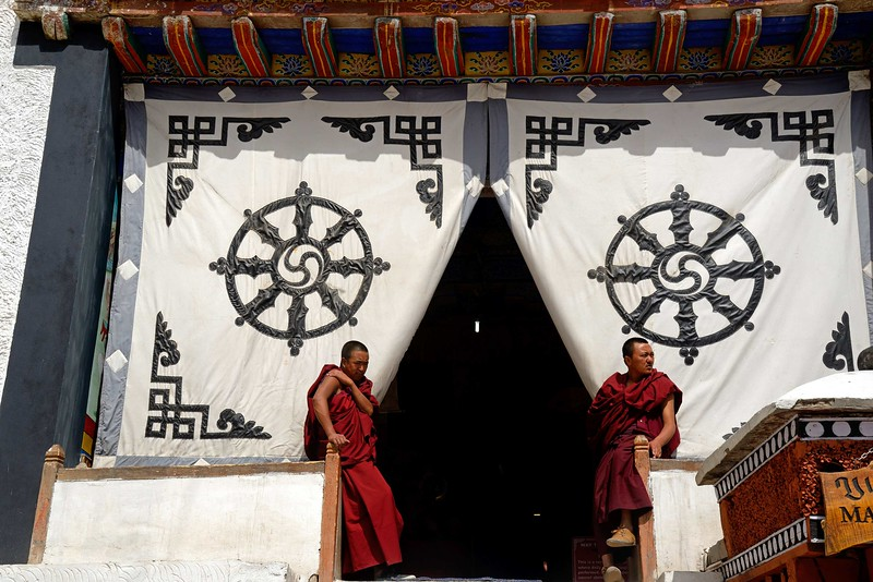 The entrance of Hemis monastery
